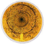 The Vision Of The Empyrean Round Beach Towel