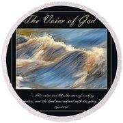 The Voice Of God Round Beach Towel