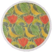 The Voysey Birds Round Beach Towel