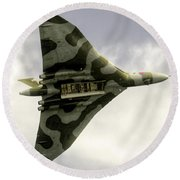 The Vulcan Bomber  Round Beach Towel