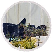 The Waiting Game Round Beach Towel