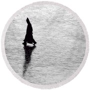 The Wanderer.. Round Beach Towel
