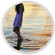 The Wanderer Round Beach Towel