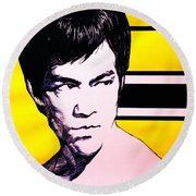 The Warrior Round Beach Towel