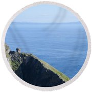 The Watchtower At Slieve League Round Beach Towel