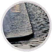 The Water Fountain Round Beach Towel