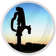 The Water Hydrant Round Beach Towel