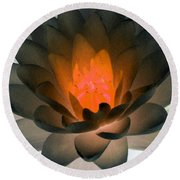 The Water Lilies Collection - Photopower 1036 Round Beach Towel