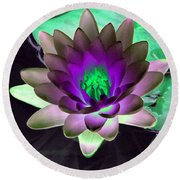The Water Lilies Collection - Photopower 1114 Round Beach Towel