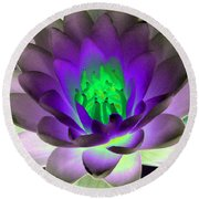 The Water Lilies Collection - Photopower 1115 Round Beach Towel