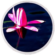 The Water Lily... Round Beach Towel
