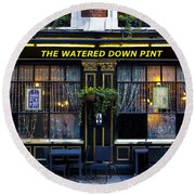 The Watered Down Pint Round Beach Towel