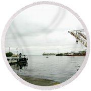 The Waterfront Round Beach Towel