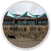 The Watering Hole Perranporth Round Beach Towel
