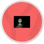 The Water's Light Round Beach Towel