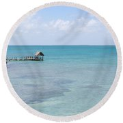 The Waters Of Pigeon Key Round Beach Towel