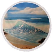The Wave Round Beach Towel