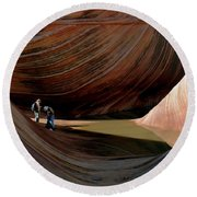 'the Wave' North Coyote Buttes 44 Round Beach Towel