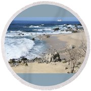 The Waves - The Sea Round Beach Towel