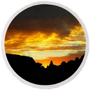 The Way A New Day Shines Round Beach Towel