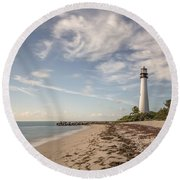 The Way Back Home Round Beach Towel