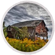 The Weathered Barn Round Beach Towel