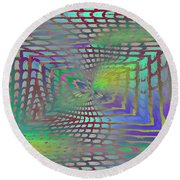 The Web Is Cast Round Beach Towel