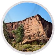 The Wedge Canyon Dechelly Round Beach Towel