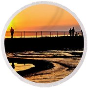 The Weekend Round Beach Towel by Frozen in Time Fine Art Photography