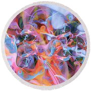 The Welling Wall 1 Round Beach Towel