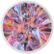 The Welling Wall 2 Round Beach Towel