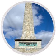 The Wellington Monument Round Beach Towel