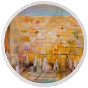 The Western Wall Round Beach Towel