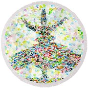 The Whirling Sufi Round Beach Towel