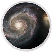The Whirlpool Galaxy M51 And Companion Round Beach Towel by Adam Romanowicz