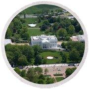The White House Round Beach Towel by Carol Highsmith