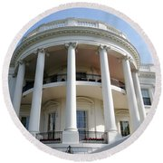 The White House South Portico Round Beach Towel