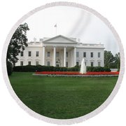 The White House - Washington D C Round Beach Towel
