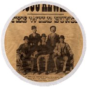 The Wild Bunch Round Beach Towel