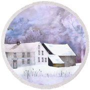 The Wilder Homestead Round Beach Towel