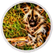 The Wildness In Me  Round Beach Towel