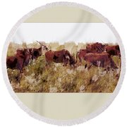 The Wilds Round Beach Towel