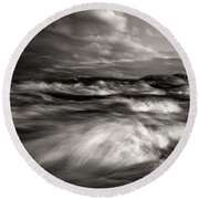 The Wind And The Sea Round Beach Towel by Bob Orsillo