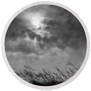 The Wind That Shakes The Grass Round Beach Towel