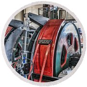 The Winding Engine Round Beach Towel