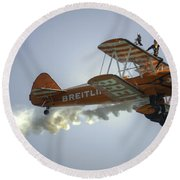 The Wing Walker  Round Beach Towel