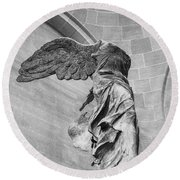 The Winged Victory Round Beach Towel
