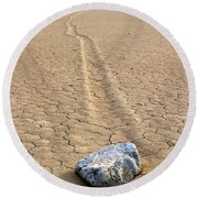 The Winner Death Valley Moving Rock Round Beach Towel