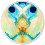 The Wise Ones - Visionary Art By Sharon Cummings Round Beach Towel
