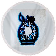 The Wise Virgin Algorithm Round Beach Towel